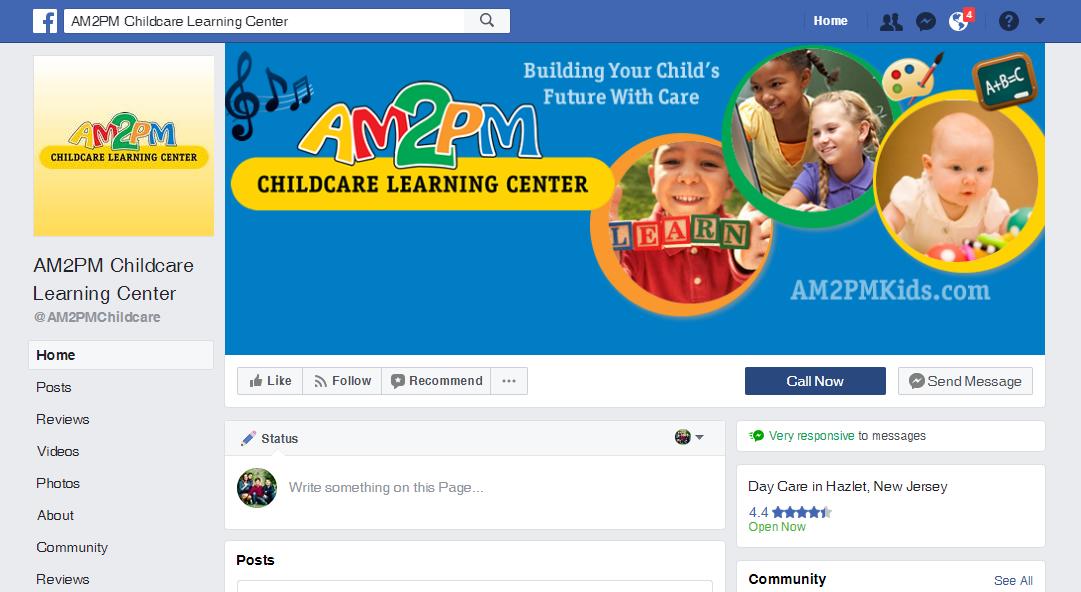 Child Care Facebook Fan Page Design